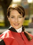 Jockey Chantal Sutherland got #8 Magna Cum Laude to break his maiden on his 16th try