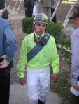 Jockey Joel Rosario got nailed on the wire by #2 Saint's Crown