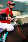 Jockey Danny Sorenson rallied first timer #4 Treadwell for the win