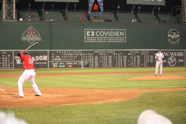 Big Papi walked and came around to score the winning run
